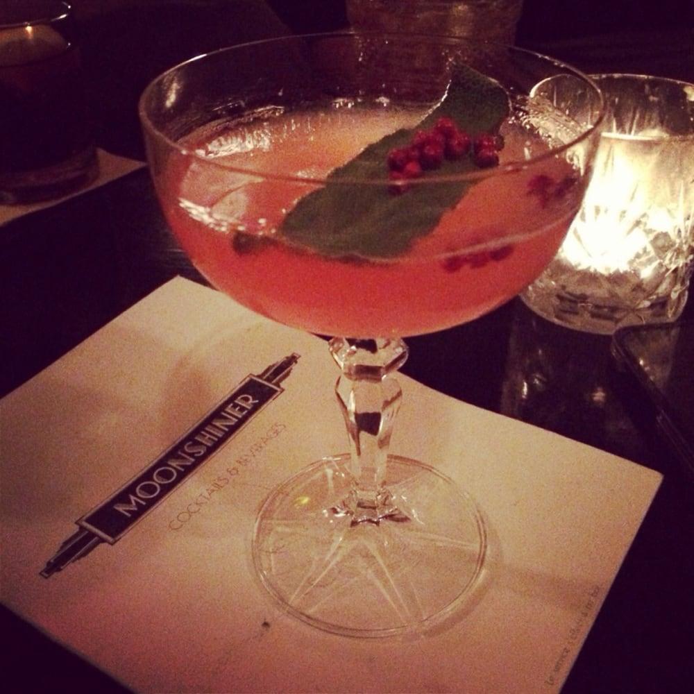 pink drink at speakeasy